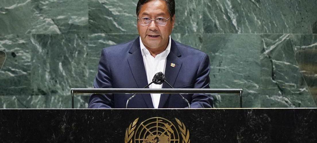 El presidente Luis Arce en la Asamblea General de la ONU